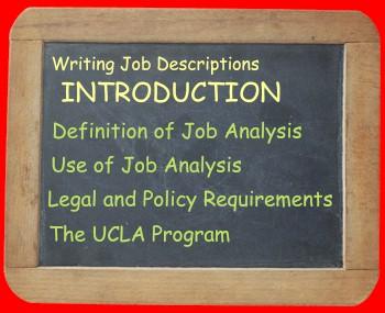 Introduction Job Description