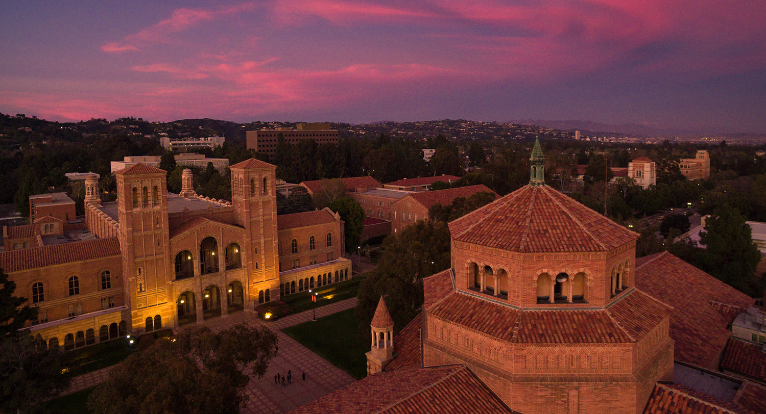 Photo of Royce Hall and Powell Library