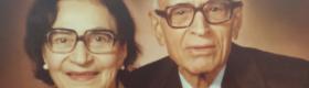 A Photo of Morvarid Guiv and her husband Rustam Guiv