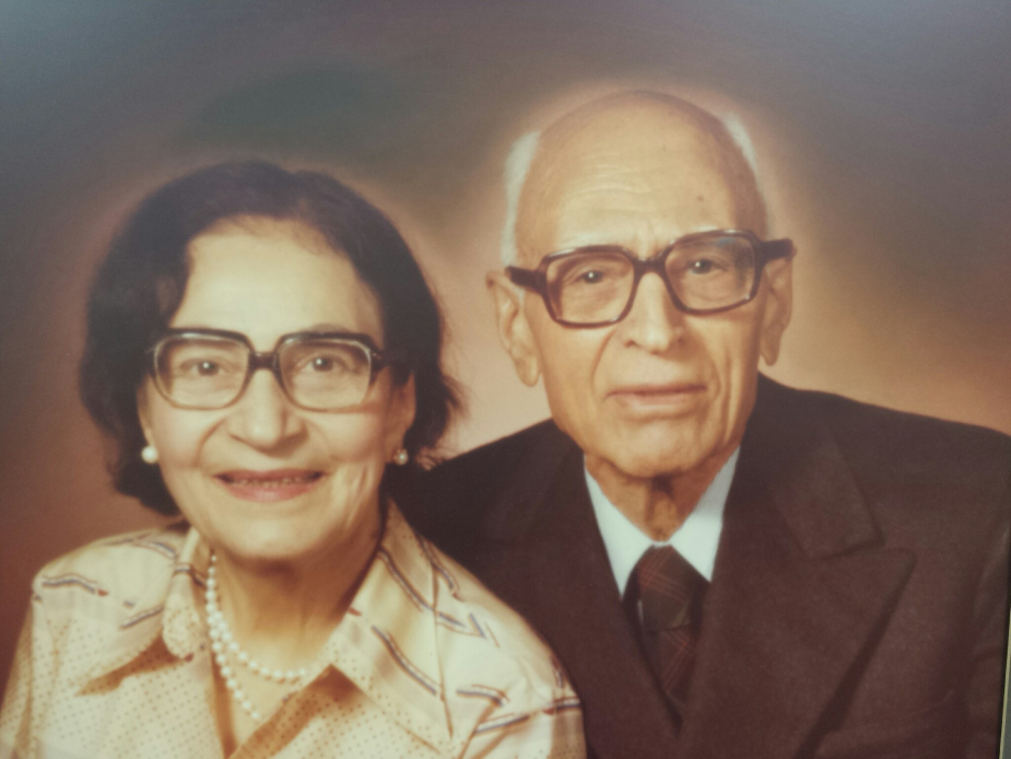 A Photo of Morvarid Guiv and her husband Rustam Guiv