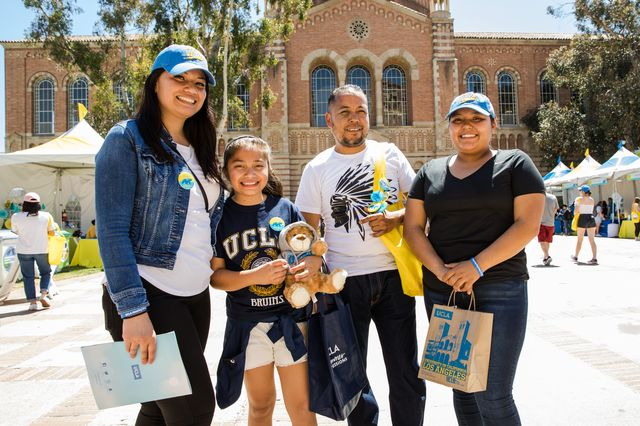 Dickson Plaza was a prime spot for families on Bruin Day.