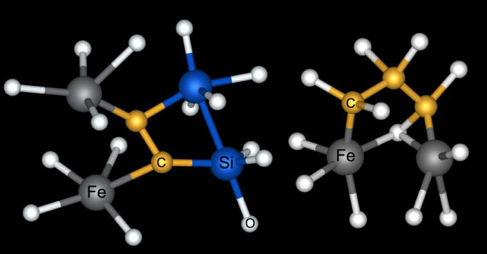 New simulations suggest that carbon (C) routinely bonded with iron (Fe), silicon (Si) and oxygen (O) deep within the magma ocean that covered Earth when it was young.