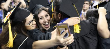 Graduates in Pauley Pavilion