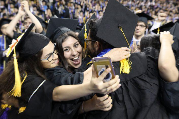 Graduates in Pauley Pavilion