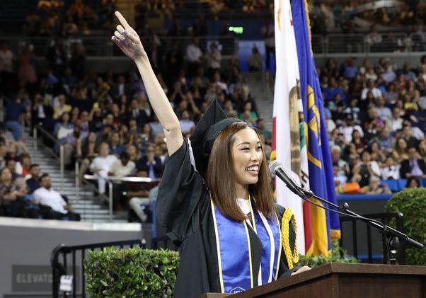 Student speaker Kaitlyn Kim