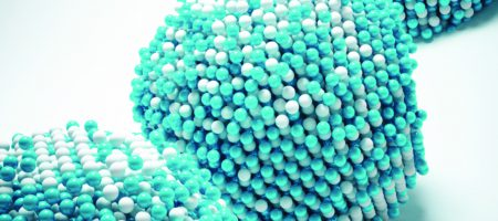 4d graphic rendering of iron-platinum nanoparticle
