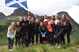Photo of students on a study abroad program in Scotland.