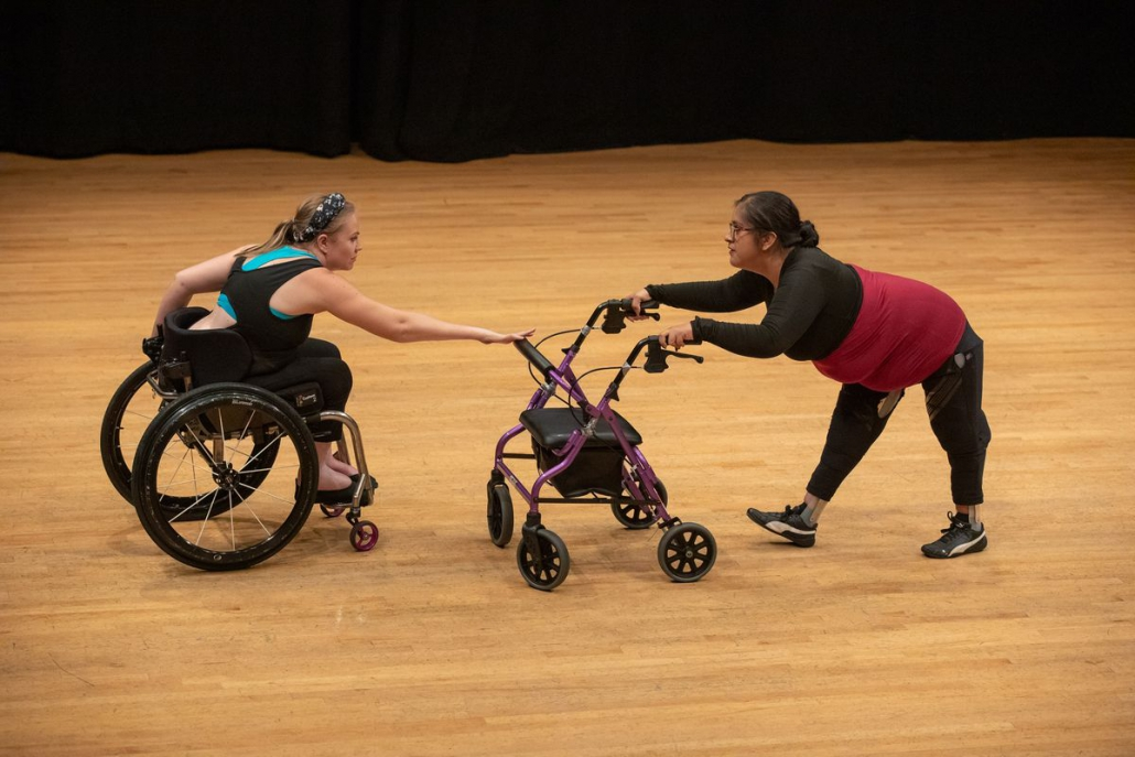 Photo of two women performing a dance duet.
