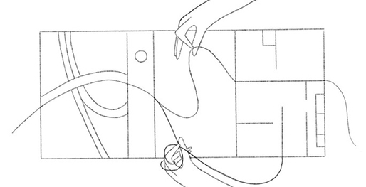A photo of an abstract drawing.