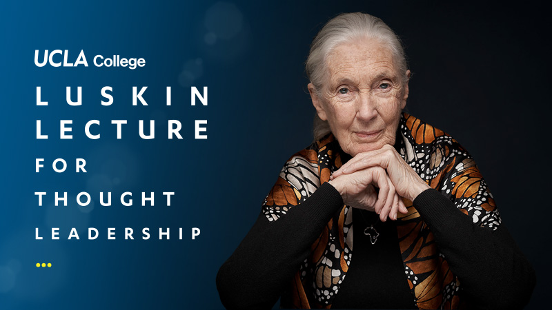 Image for Luskin Lecture featuring Jane Goodall
