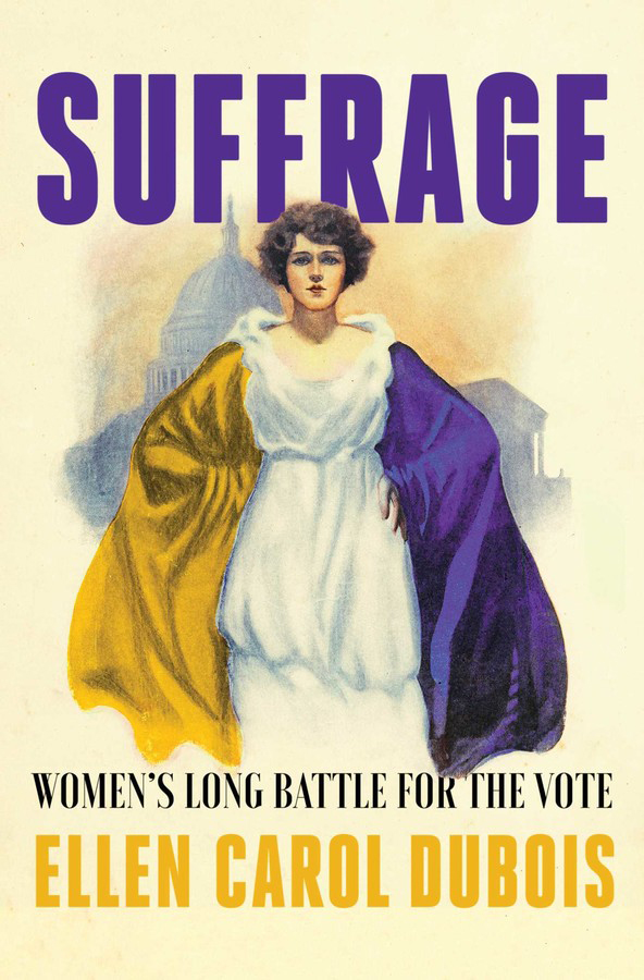 "A photo of the cover of ""Suffrage: Women's Long Battle for the Vote."""
