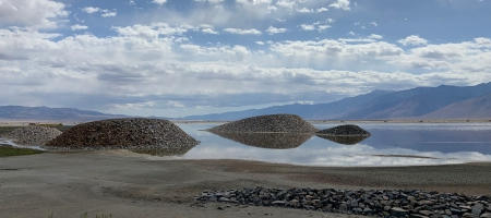 A photo of the Owens Valley lakebed.