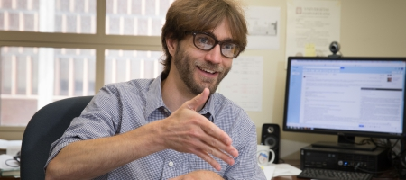 A photo of Assistant Professor Wesley Campbell, UCLA Physics & Astronomy