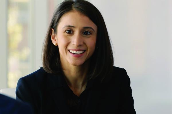 A portrait of Adriana Galván
