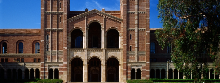 A photo of Royce Hall.
