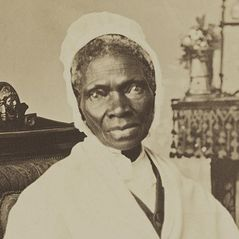 A photo of Sojourner Truth .