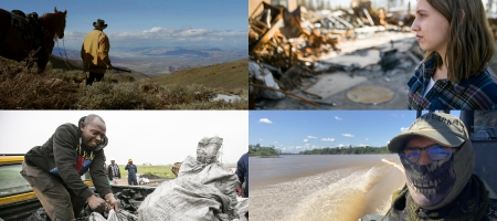 Images from the four episodes of Earth Focus