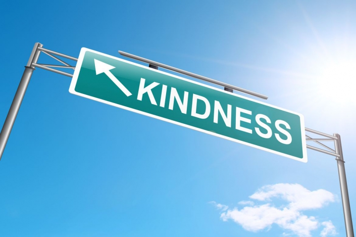 """A photo of a street sign named """"Kindness."""""""
