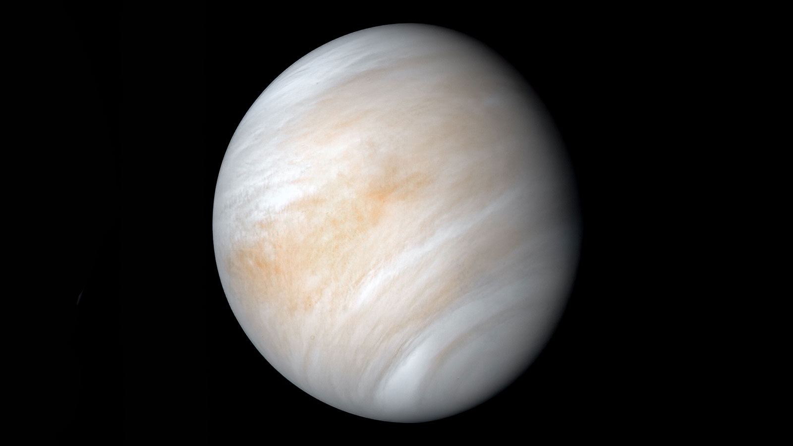 A photo of the planet Venus.