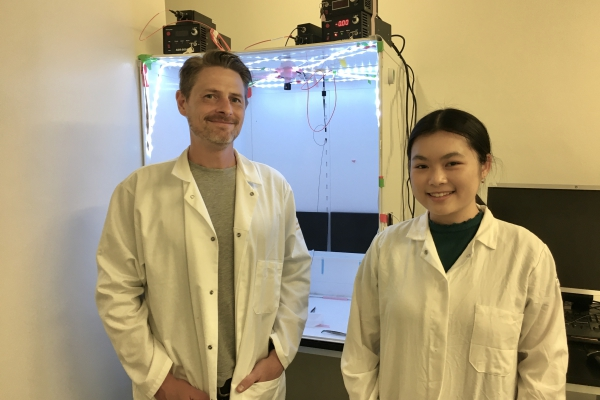 A photo of Dr. Scott Wilke and Jovian Cheung.
