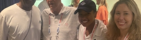 From right, Alexandra Dell, Jada Hart, Donald Dell and Jada's father Nathan Hart at the Citi Open in Washington, D.C.