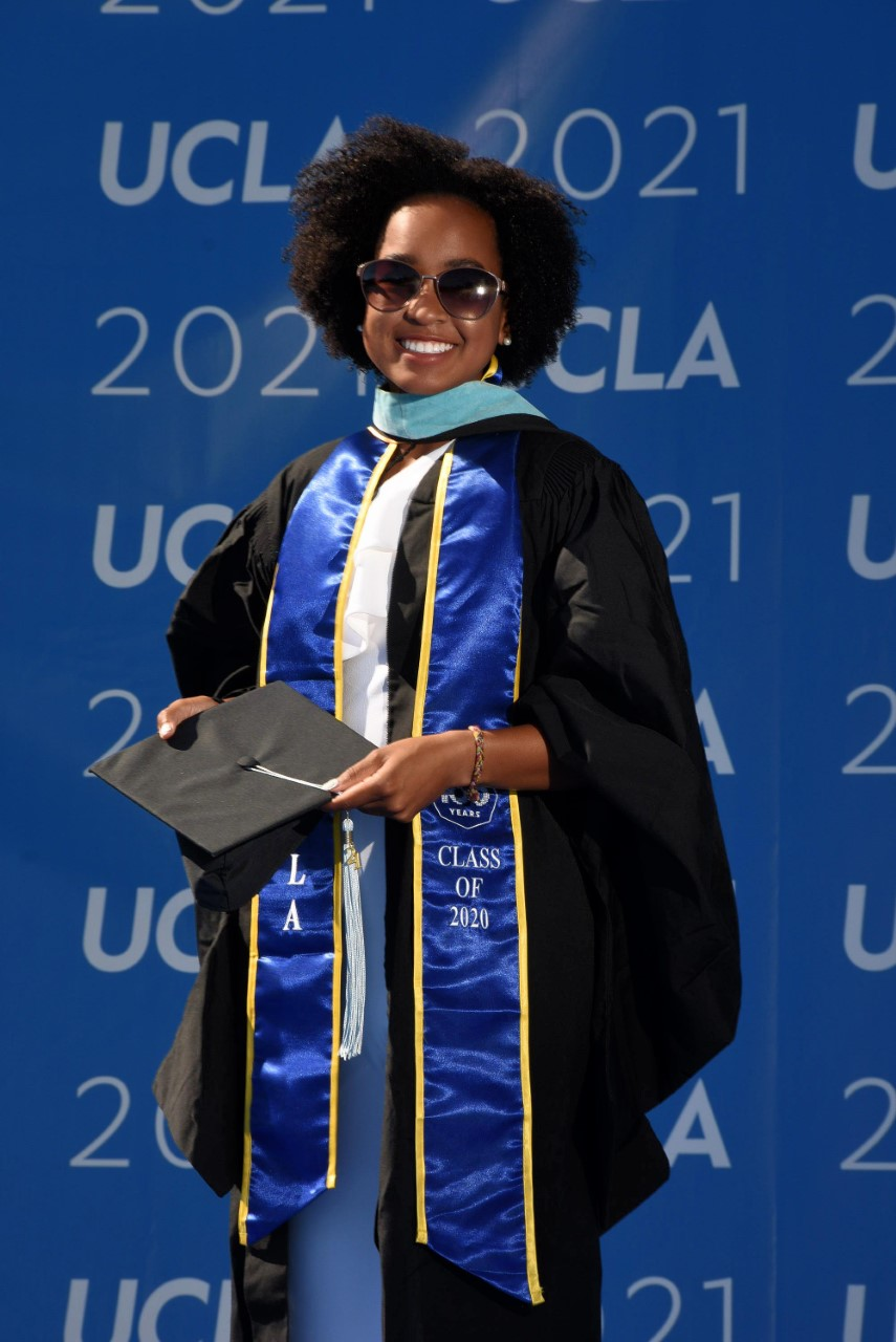 Jada Hart on the occasion of her graduation from UCLA