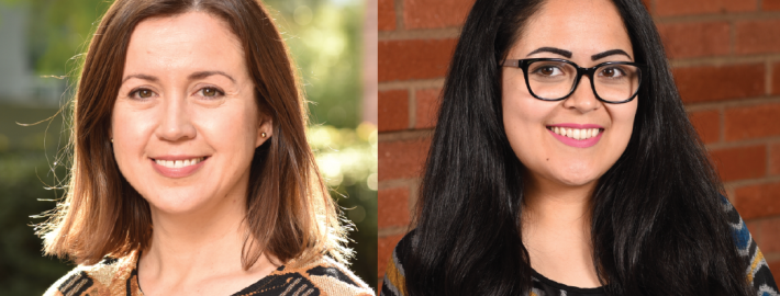 Assistant Professor Stephanie Correa and doctoral student Norma Sandoval are working together to advance science as well as equity at UCLA and beyond Photo