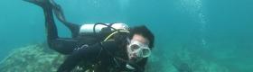 Justin Dunnavant Underwater picture. Credit: Chris Searles
