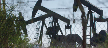 Photo of Urban oil drilling in Inglewood. Photo Credit: Ty Woodson/KLCS